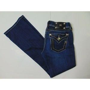 Miss Me 27 Boot Blue Jeans Bejeweled Denim Pants